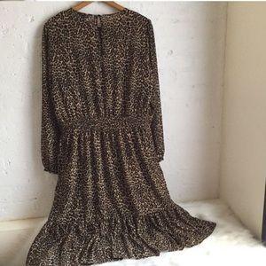 J. Crew Leopard Print Midi Dress
